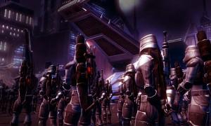 Generell sind die Myrmidonen in ihrer ordentlichen Uniform bis auf ein Abzeichen auf der Brust nicht von normalen imperialen Soldaten zu unterscheiden